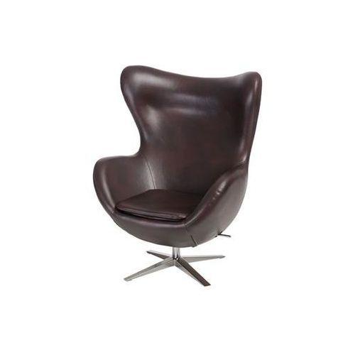 D2.design Fotel jajo szeroki skóra ekologiczna 525 brązowy ciemny (5902385722315)