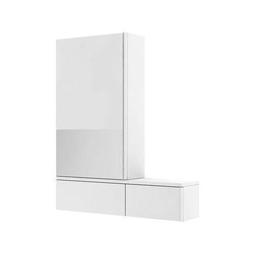 Koło Nova pro szafka wisząca 70 8 x 85 x 17 6 cm z lustrem lewa biały połysk - 88432000 (5906976556594)
