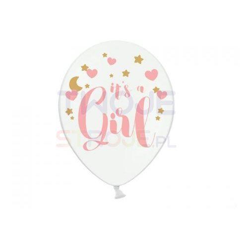Twojestroje.pl Balon its a girl biały 30cm 1szt (5902230763852)