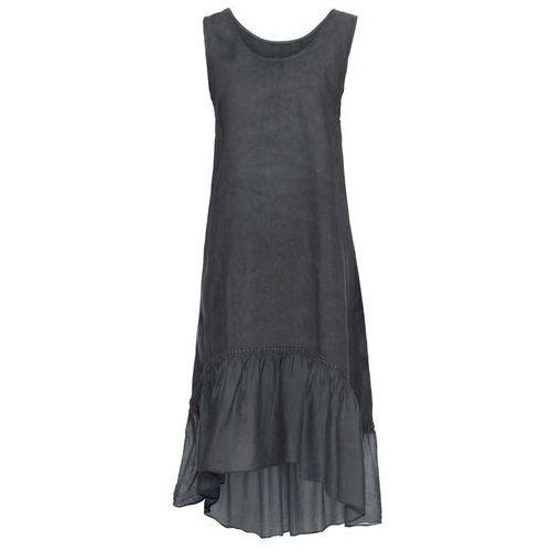 Sukienka dzianinowa bonprix ciemnoszaro-biały