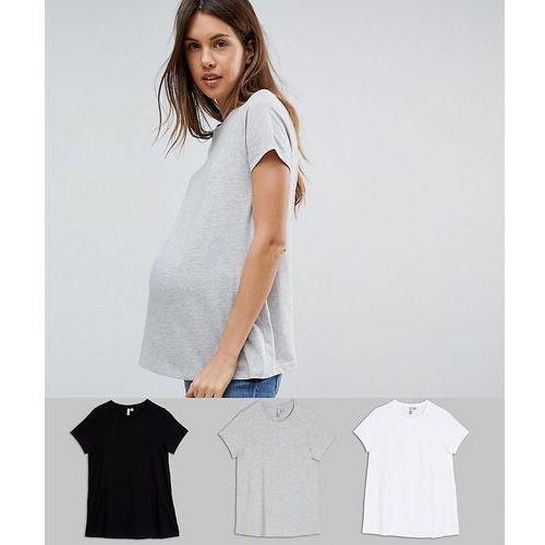 Asos maternity Asos design maternity ultimate crew neck t-shirt 3 pack save - multi