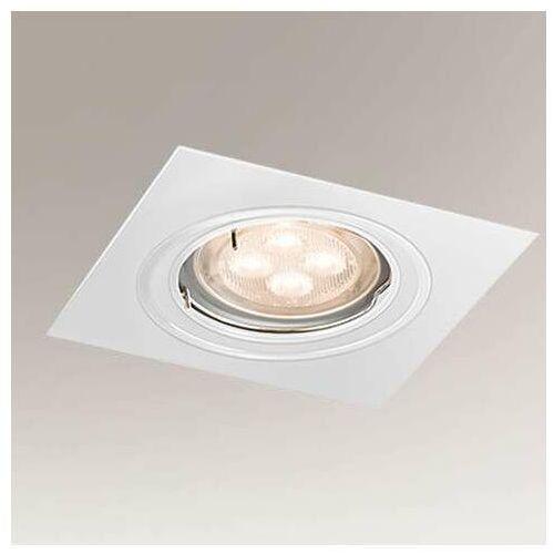 Wpuszczana LAMPA sufitowa OMURA 7308 Shilo podtynkowa OPRAWA kwadratowa metalowy wpust biały (5903689973083)