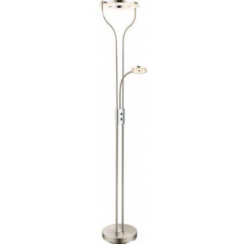 Globo Lampa stojąca oświetlająca sufit LED Nikiel matowy, 2-punktowe - - Obszar wewnętrzny - EBRO - Czas dostawy: od 6-10 dni roboczych (9007371319565)