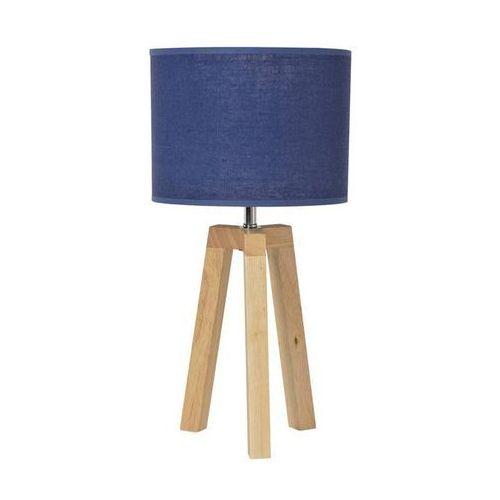 STOCKHOLM-Lampa stojąca statyw Drewno naturalne & Len Wys.40cm (3188000743237)
