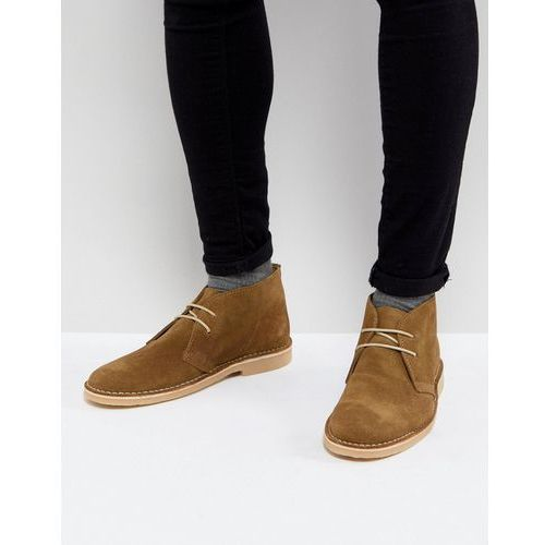 desert boots in beige suede - beige marki Pier one