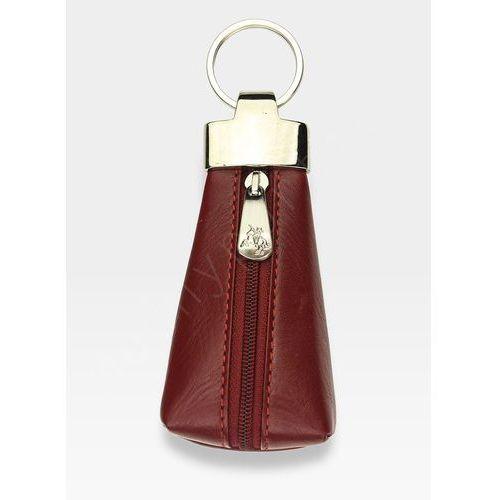 Skórzane etui na klucze  czerwone - czerwony marki Visconti