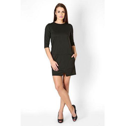 Sukienka Elena Czarna, kolor czarny