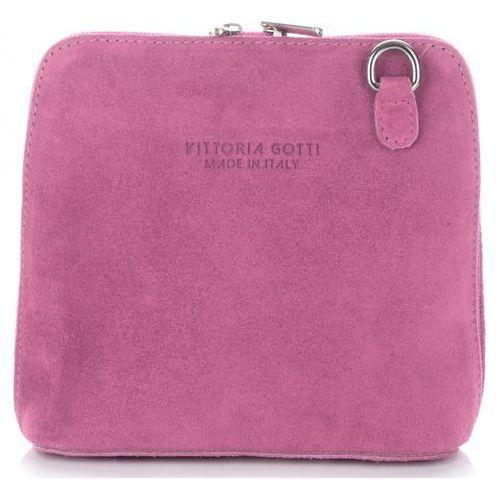 888f93acc1016 Vittoria gotti torebka skórzana listonos... Producent Vittoria Gotti   Rodzaj listonoszka  Kolor różowy
