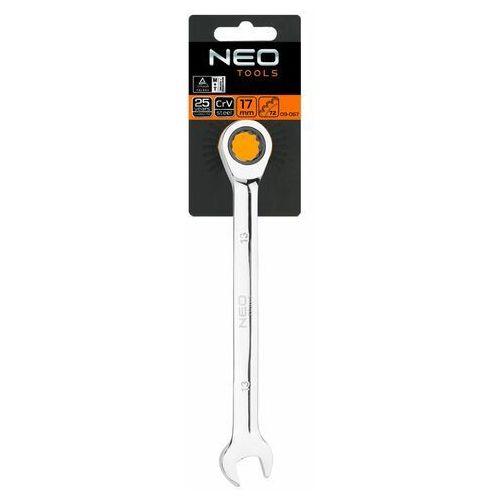 Klucz płasko-oczkowy z grzechotką, 30 mm marki Neo