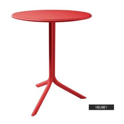 SELSEY Stół Chapena czerwony średnica 61 cm, kolor czerwony