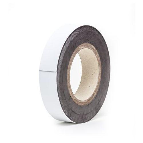 Haas Magnetyczna tablica magazynowa, białe, rolka, wys. 30 mm, dł. rolki 10 m. zapewn