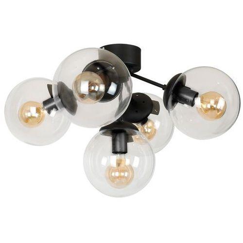 Luminex hamar 8284 plafon lampa sufitowa 5x60w e27 czarny