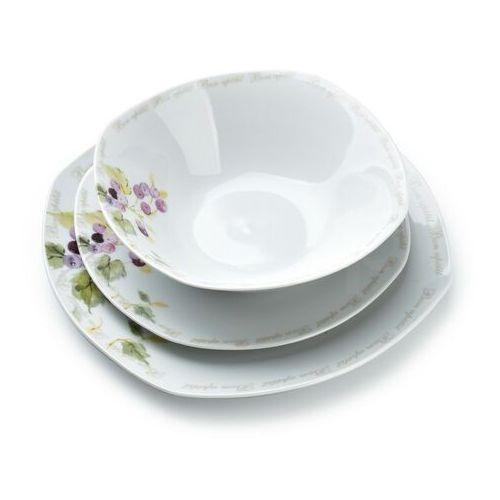 Sofa.pl Cranberry kpl.18el.obiadowy kawdratowy 19des/23,5pł/17mis