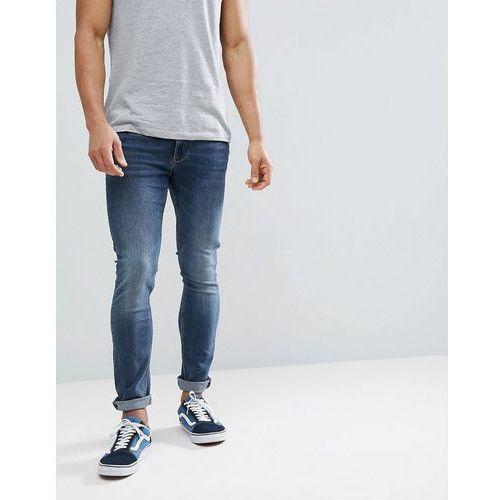 River Island Skinny Fit Jeans In Dark Wash - Black, skinny