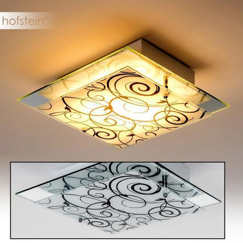 Hofstein Floral lampa sufitowa chrom, biały, 2-punktowe - - nowoczesny/design - obszar wewnętrzny - floral - (9003348885477)
