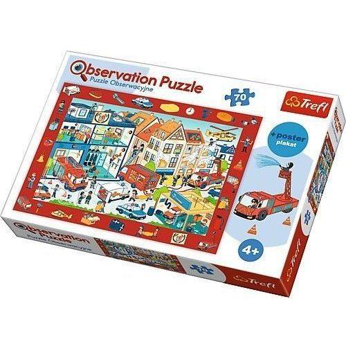 Trefl Puzzle 70 obserwacyjne odwiedzamy remizę strażacką (5900511155372)