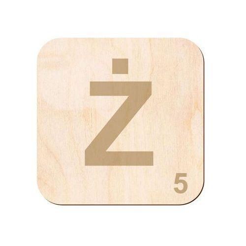 Drewniana dekoracja na ścianę scrabble - literka Ż