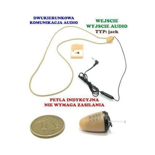Bezprzewodowa Mikro-Słuchawka (zestaw egzaminacyjny) + Pętla Indukcyjna Pod Tel. GSM (jack 3,5mm).