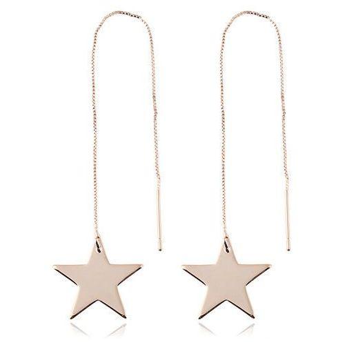 Cloe Kolczyki długie gwiazdy złote - złote