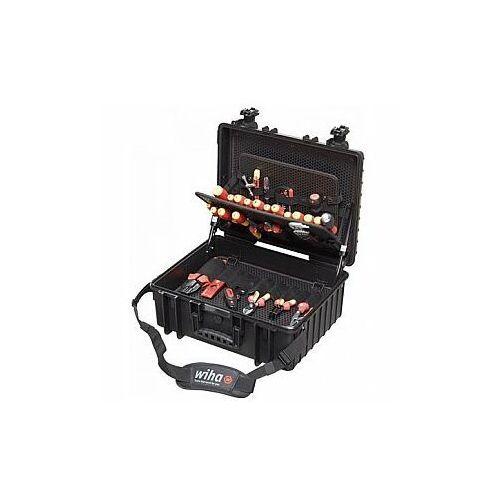 Wiha Zestaw narzędzi w walizce dla elektryka XL zestaw mieszany, 80-cz. w skrzynce narzedziowej (40523), WH40523