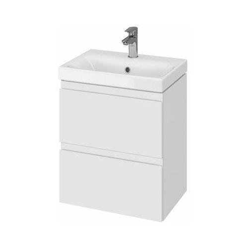 set szafka moduo biały połysk + umywalka moduo slim 50 s801-229 marki Cersanit