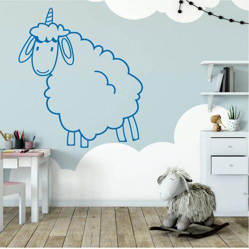 Wally - piękno dekoracji Naklejka na ścianę dla dzieci owieczka 2546