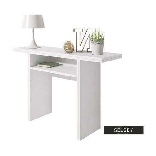Selsey włoska toaletka - konsola - stół lurdi biały (5902409938548)