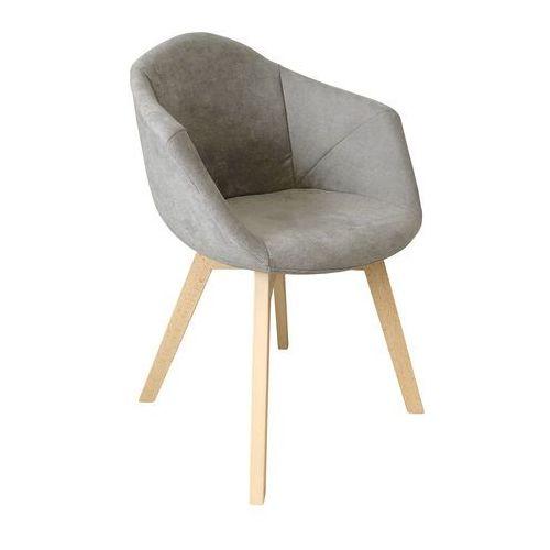 Exitodesign Krzesło tapicerowne lena light grey