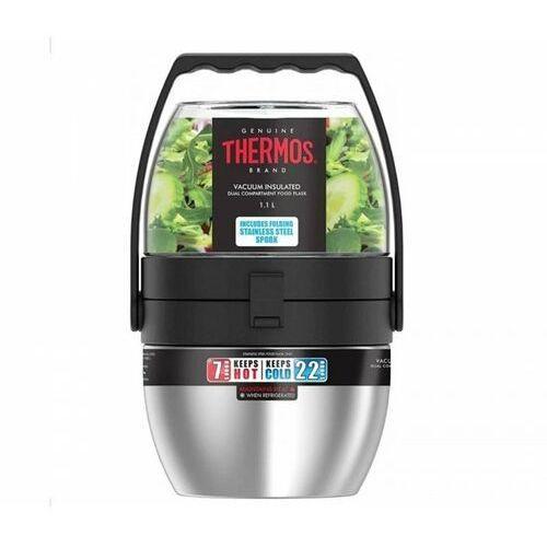 Thermos Termos obiadowy dwukomorowy food flask 600 ml + 470 ml (stalowy) (5010576110749)