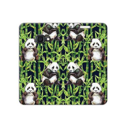 Samsung Galaxy Xcover 4S - etui na telefon Flex Book Fantastic - pandy z bambusem, ETSM941FBFCFB035000
