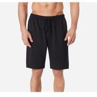 Bawełniane szorty piżamowe męskie z gumką 116, kolor czarny