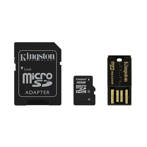 Kingston microSDHC 16GB class 4 + adapter + czytnik USB