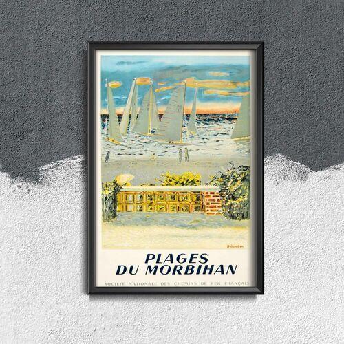 Plakat w stylu vintage Plakat w stylu vintage France Plages du Morbihan