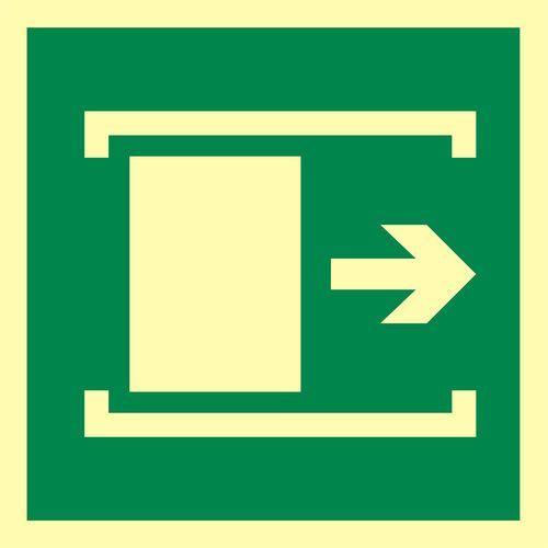 """Znak ewakuacyjny """"przesunąć w celu otwarcia w prawo"""" marki Top design"""