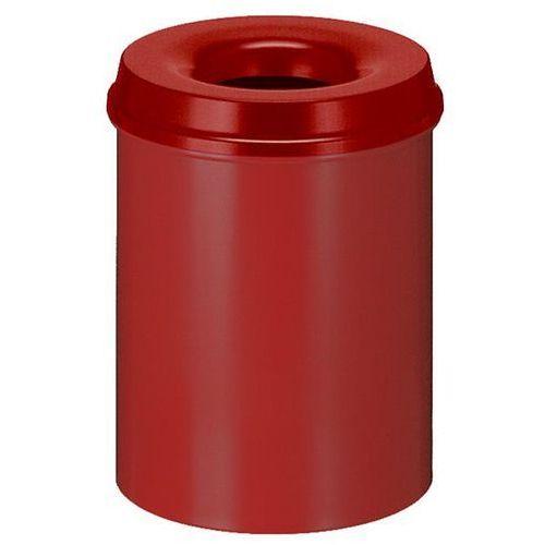 Kosz na papier, samogaszący, poj. 15 l, korpus czerwony / głowica gasząca czerwo marki Vepa bins