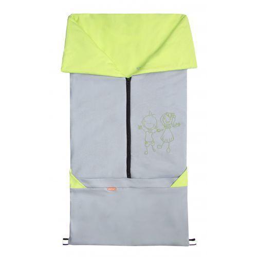 śpiworek do wózka/fusak 2w1 bary, szary/limonkowy marki Emitex