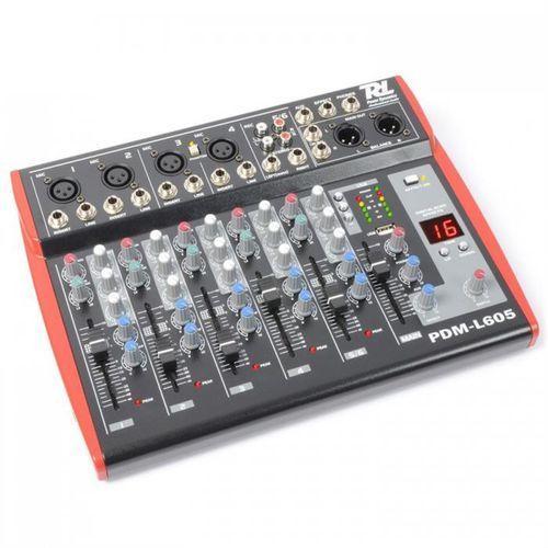 pdm-l605 mikser 6-kanałowy usb aux mic +48v marki Power dynamics