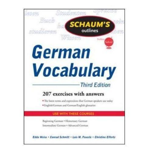 Schaum's Outline Of German Vocabulary (9780071615471)