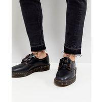 Dr martens henton ghillie shoes in black smooth - black