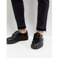 henton ghillie shoes in black smooth - black marki Dr martens
