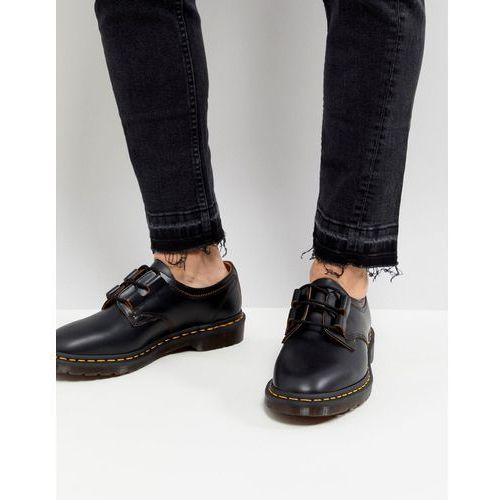 henton ghillie shoes in black smooth - black marki Dr martens