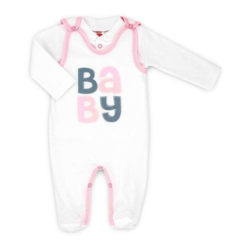 Komplet niemowlęcy śpioszki i kaftanik kolekcja baby marki Makoma