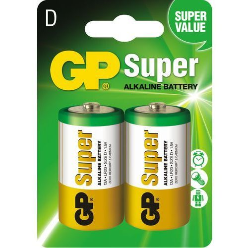 Baterie alkaliczne GP Super Alkaline LR20/D (blister) (4891199000003)