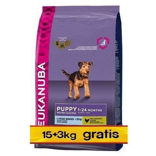 Eukanuba puppy & junior large breed - bonus 18kg (8710974904809)