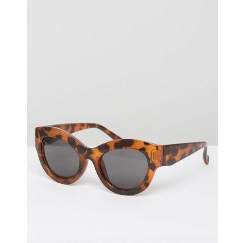 Cheap Monday Cat Eye Sunglasses in Tortoise Print - Brown