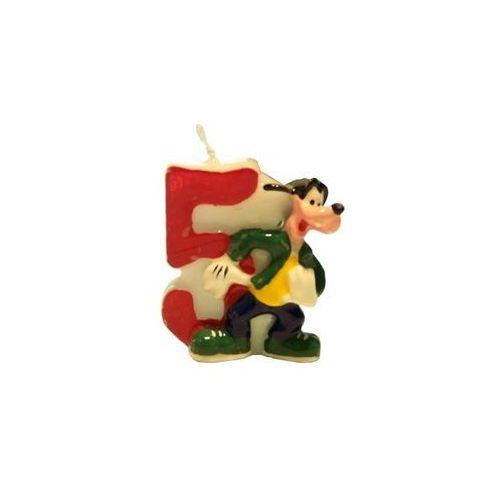 Świeczka cyferka piątka 5 z serii Myszka Mickey - 1 szt.