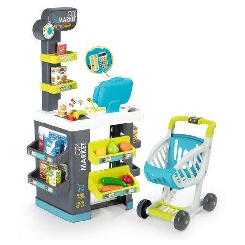 sklep dla dzieci citymarket, szaro-zielony marki Smoby