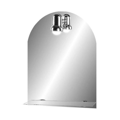 Lustro łazienkowe z oświetleniem kinkietowym SOLO 40 x 60 DUBIEL VITRUM, kolor biały