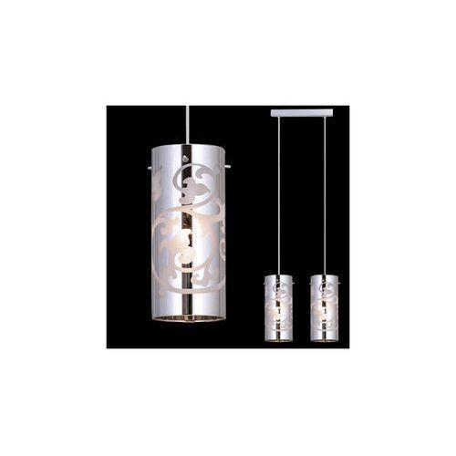 Lampa wisząca laura mdm1579/2cr szklana listwa zwis tuby z wzorkami chrom marki Italux