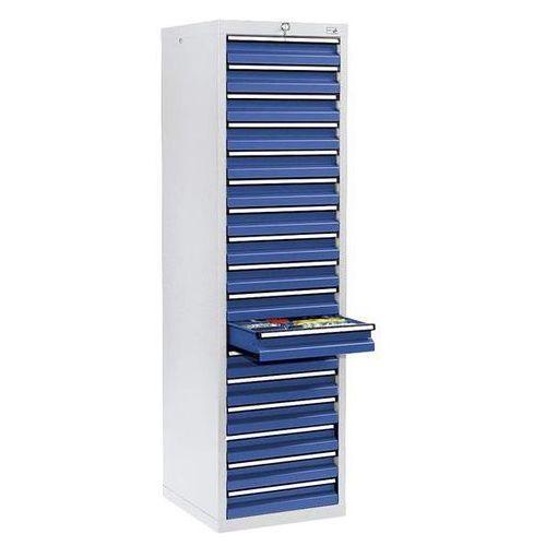Szafka z szufladami, wys. x szer. x gł. 1800x500x500 mm, 17 szuflad o wys. 100 m marki Stumpf-metall